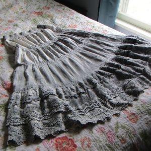 Aratta Silent Journey BohoTiered Maxi Skirt